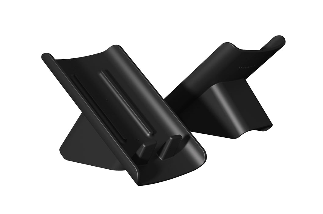 Slanted soap saving dish (2-pack Black)