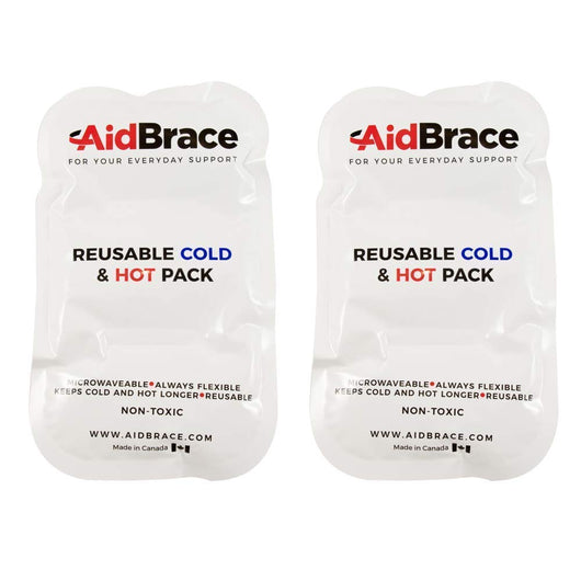 AidBrace Hot & Cold Soft Reusable Therapy Pack (8.5 x 5 Inches) (2 Pack)