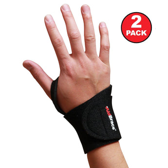 Adjustable Golf & Tennis Wrist Brace for Injury Prevention, Sprains & Strain (2 Pack)