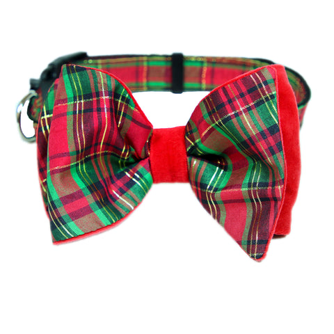 Pop Up Plaid Bow Tie