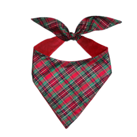 Pop Up Plaid Bandana.  Donate