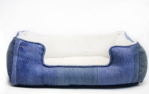 Mister Migs Denim Dog Bed.  Currently Unavailable