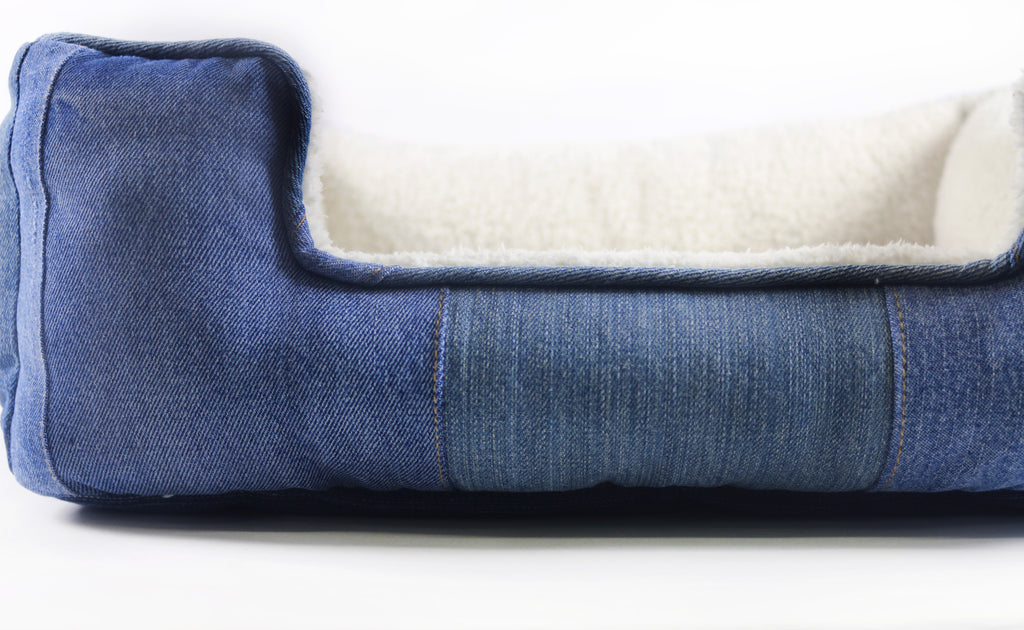 Mister Migs Denim Dog Bed