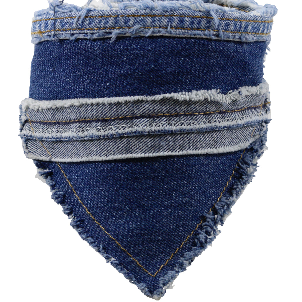 Denim Bandana, LARGE. Donate
