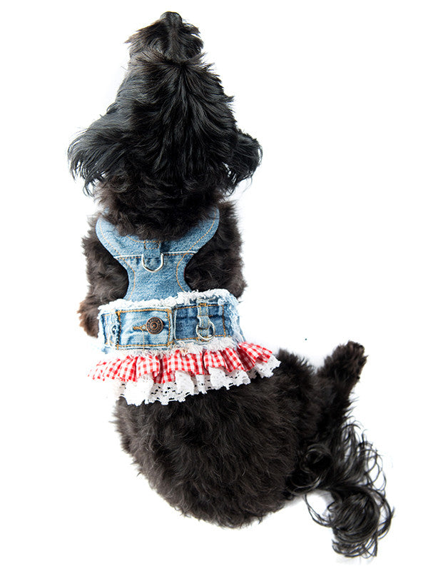 GIGI Migrubbie Gingham Harness.  Donate
