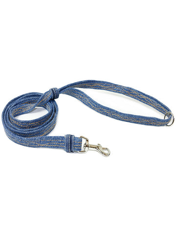 Leash, Blue denim.  Donate