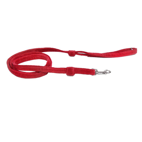 Pop Up Plaid Red Velvet Leash