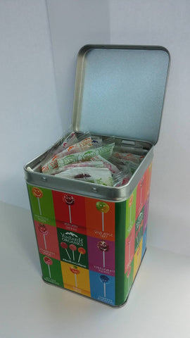 YumEarth Organics UK tins of lollipops