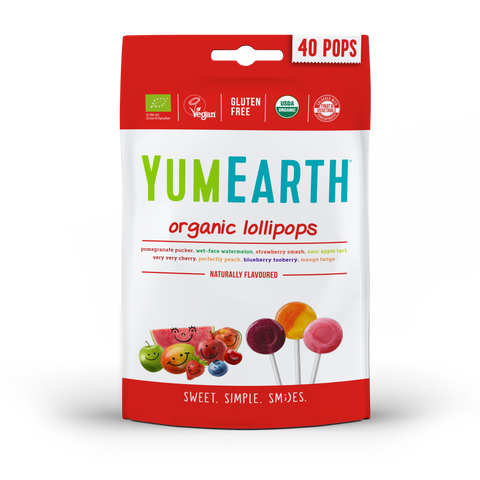 YumEarth Organics Organic Lollipops - bag of 40