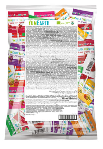 BAG OF 100 YUMEARTH LOLLIPOPS- *VEGAN *ALLERGY FRIENDLY *  ORGANIC WITH FREE SHIPPING
