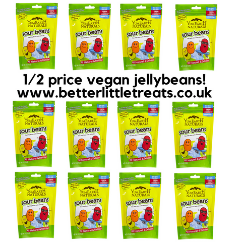 YUMEARTH VEGAN SOUR BEANS 12 BAG BUNDLE DEAL! HALF PRICE WITH FREE SHIPPING!