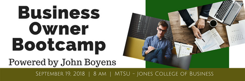9/19/18 Business Owner Bootcamp Registration