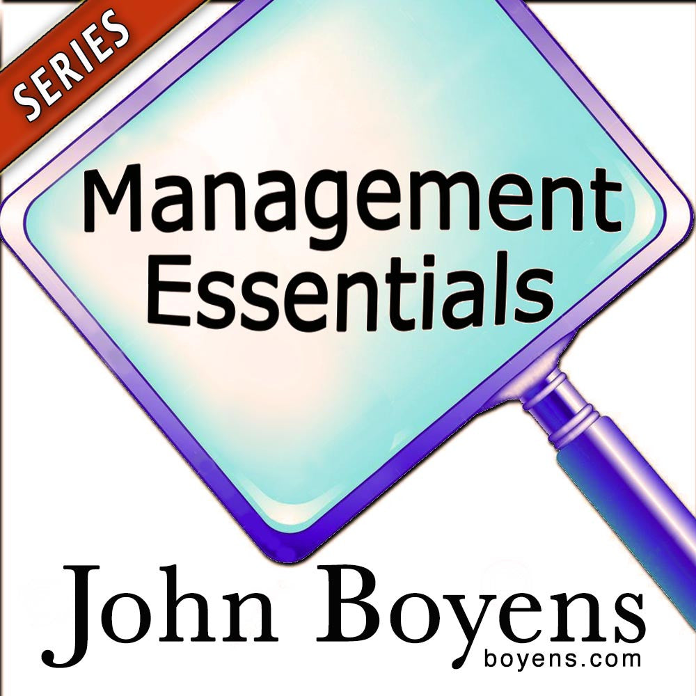 Management Essentials Audio Series
