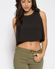 WENS Apparel Skyline Black Crop Top