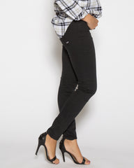WENS Apparel High Rise Skinny Color Denim in color Black