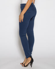 WENS Apparel High Rise Skinny Color Denim in Electric Blue