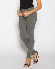 WENS Apparel High Rise Skinny Color Denim in Grey