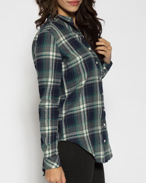 Rue Plaid Tunic- Green