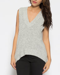 WENS Apparel Women's Salt and Pepper Venice Sweater Vest Top