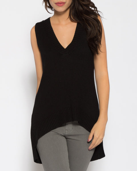 Venice Sweater Top- Black