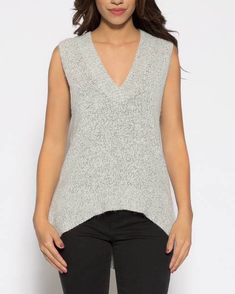 Venice Sweater Top- Salt and Pepper