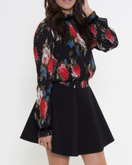 WENS Apparel Brianne Dress in Black Floral