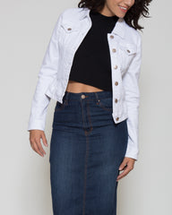 WENS Apparel Ashley Denim Jacket in White