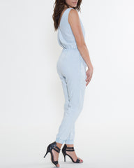 WENS Apparel Denver Chambray Overall in color Light Indigo