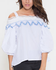 WENS Apparel Katie Top in Color White