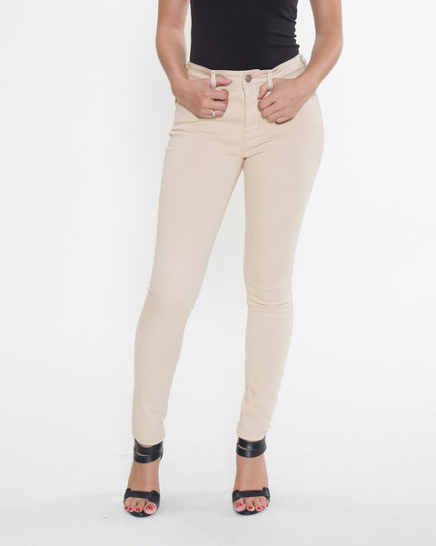 High Rise Color Denim- Khaki