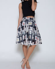 WENS Apparel Vogue Circle Skirt Fashion Print