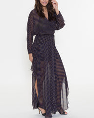 WENS Apparel Mara Dress in Navy