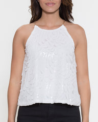 WENS Apparel Michelle Top in Color White