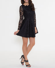 WENS Apparel Nicole Lace Dress in color Black