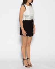 WENS Apparel Vivian Romper in Color White Black