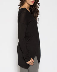 WENS Apparel Cabrini Sweater Top in Color Black