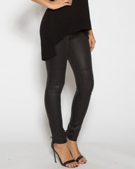 WENS Apparel Faux Leather Moto Legging in color Black