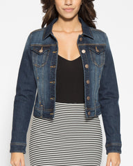 WENS Apparel Ashley Denim Jacket in Dark Indigo