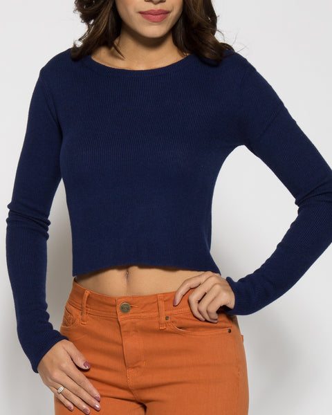 Lennox Crop Sweater- Electric Blue
