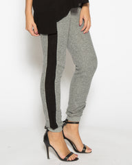 WENS Apparel Women's Southbay Tuxedo Grey and Black Stripe Jogger