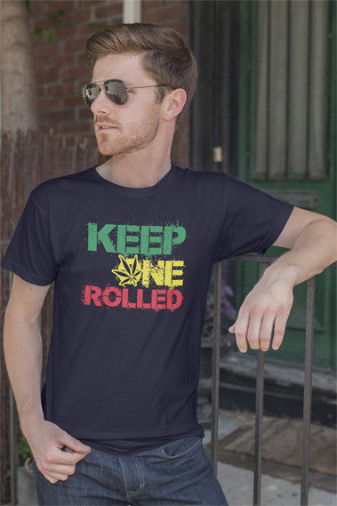 FunkyShirty Keep One Rolled (Mens)  Creative Design - FunkyShirty