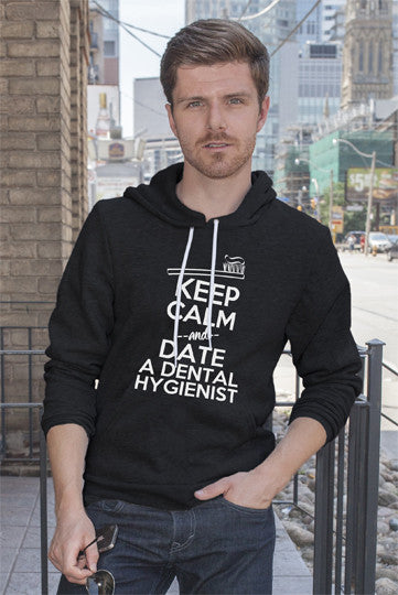 FunkyShirty Keep Calm and Date a Dental Hygienist (Men)  Creative Design - FunkyShirty