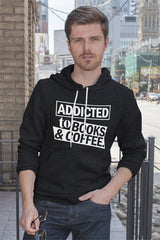 FunkyShirty Addicted to Books & Coffee (Men)  Creative Design - FunkyShirty