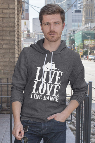 FunkyShirty Live, Love, Line Dance (Men)  Creative Design - FunkyShirty