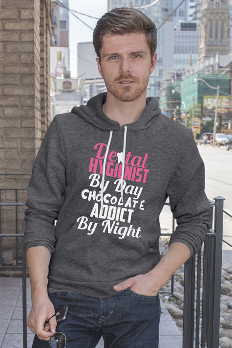 FunkyShirty Dental Hygienist by day Chocolate Addict by Night (Men)  Creative Design - FunkyShirty