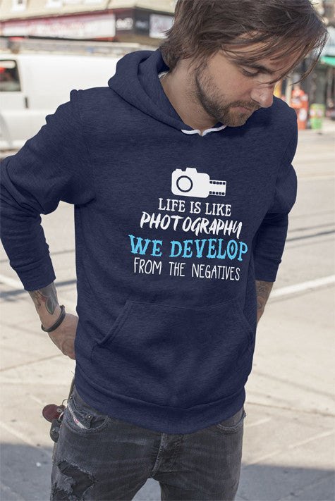 FunkyShirty Life is Like Photography We Develop From The Negatives (Men)  Creative Design - FunkyShirty