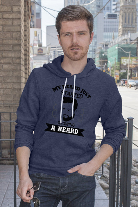 FunkyShirty My Beard Just Started Growing A Beard  Creative Design - FunkyShirty
