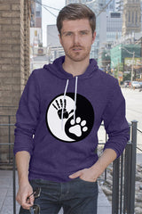 FunkyShirty Hand Paw Yin & Yang (MEN)  Creative Design - FunkyShirty