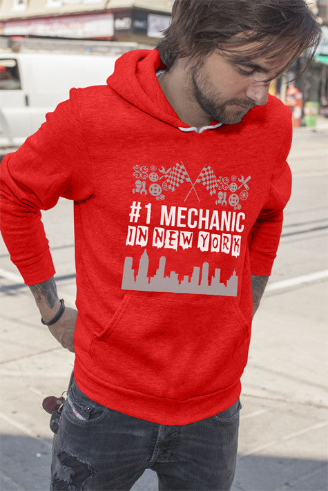 FunkyShirty # 1 Mechanic in Newyork (Men)  Creative Design - FunkyShirty