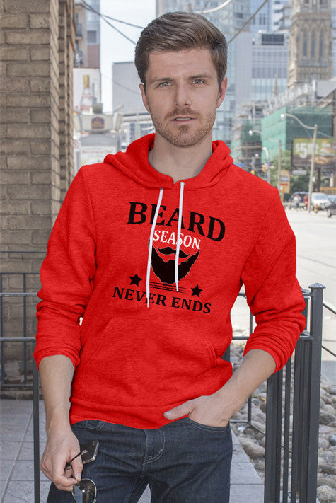 FunkyShirty Beard Season Never Ends  Creative Design - FunkyShirty